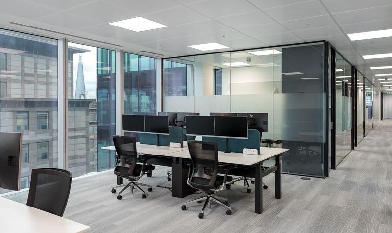 Interior design fit-out in Central London