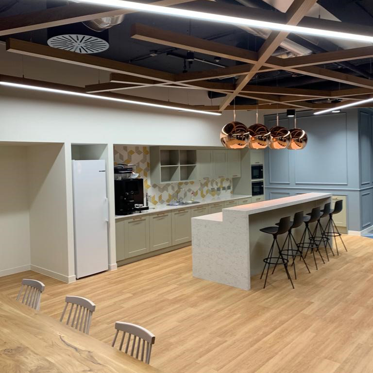 Interior fit-out project at Reading International Business Centre